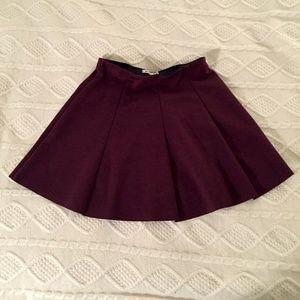 Brandy Melville Wine Pleated Skater Skirt